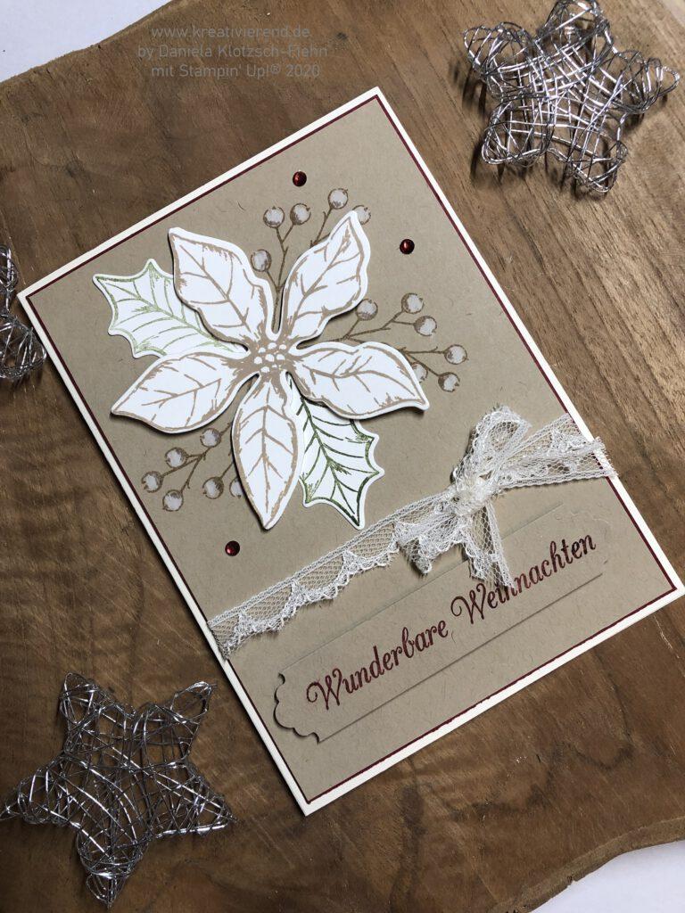 Weihnachtskarte in Naturtönen