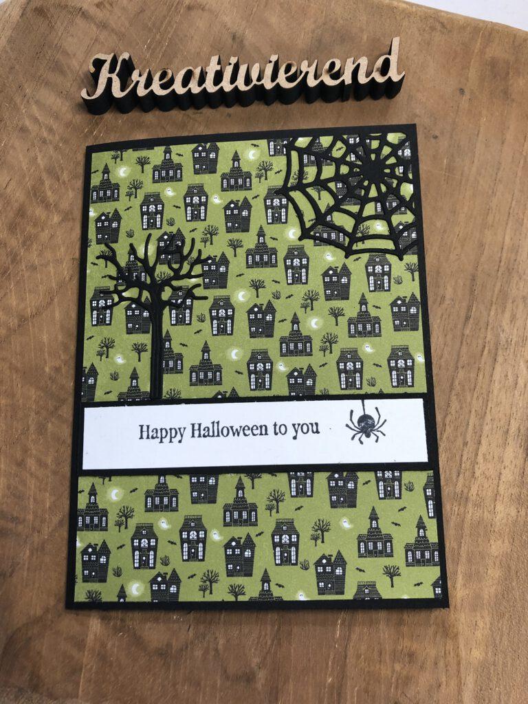 schlichte Halloween Karte