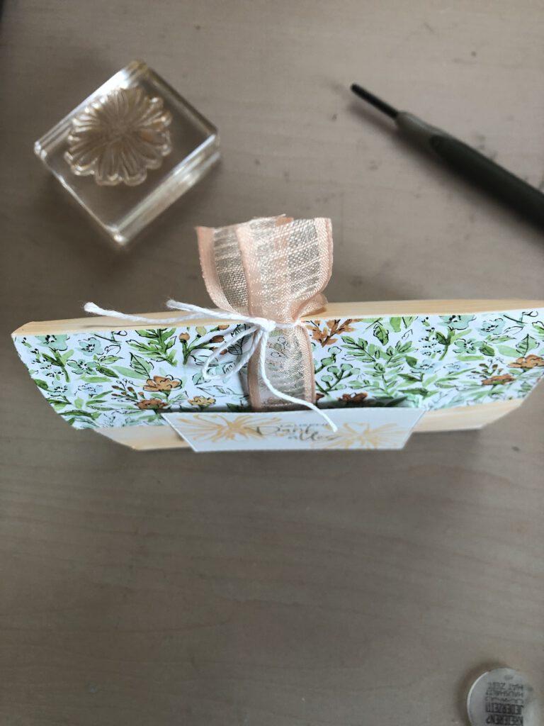 Detailbild Umschlag als Verpackung